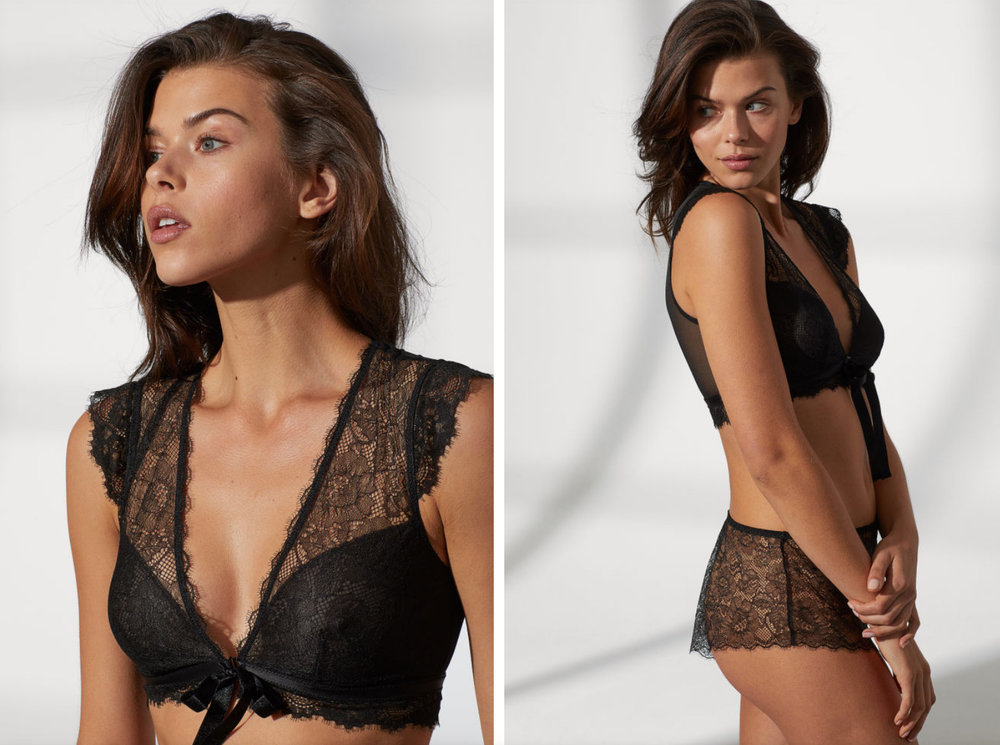 Bra Top and Lace Shorts by H+M $29.99