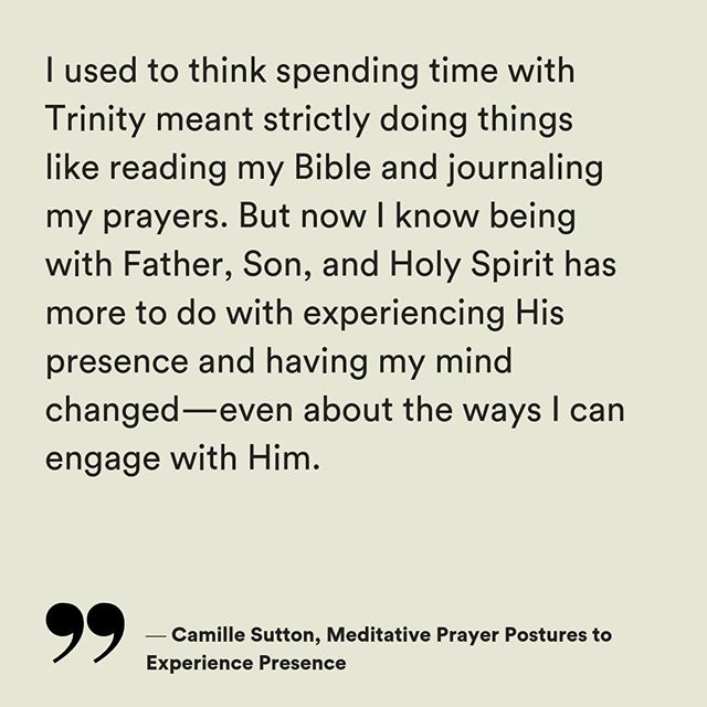 Be empowered to explore His glorious Presence with your full self—body, mind, and soul. @CamilleDCSutton invites us into learning out to meditate in the Presence with 8 different postures of prayer. Try one on for size and see how it affects your experience with Him. — Read the article in the link in the bio under TEXT