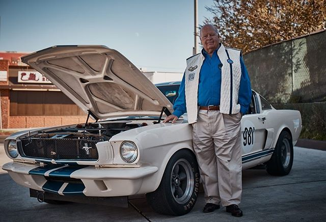 "We had the great opportunity last December 2018 @fullservicecoffeeco to check out this beautiful 1965 Shelby GT350 competition model designed by legendary Peter Brock and built by Original Venice Crew member Jim Marietta and his OVC mustangs crew @ovcmustangs . Check out more of their incredible story under our ""culture"" page on our website, as we are so lucky and honored to still have these pioneering living legends around us  #fordmustang #fordmustangjacket #musclecar #ford #mensfashion photos by @Ford.mustang.jackets Paulo Rosas-Speed Machines Design"