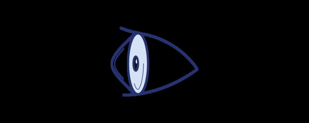 Icon illustrating keratoconus by Brisbane Ophthalmologist Dr David Gunn.