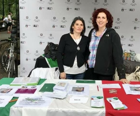 Stefania & Benedetta at the IACE table during the Italy run - June 2018
