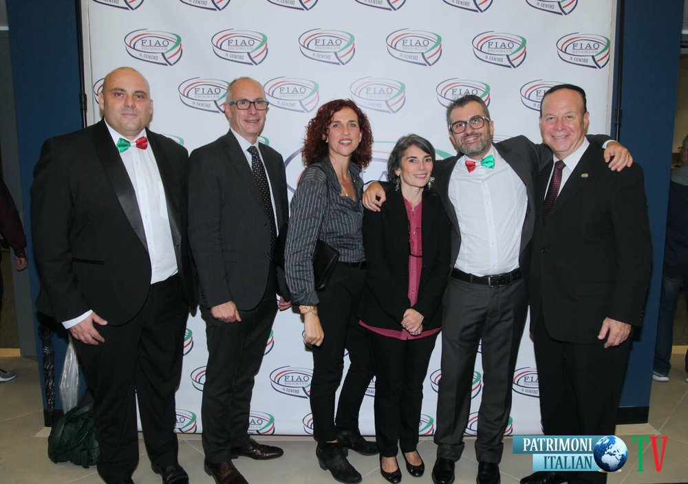 InItaliano trio with Jack Spatola (President of F.I.A.O.) and the team of Patrimonio Italiano TV during the Italian American Heritage event at Il Centro, Brooklyn. - October 2018