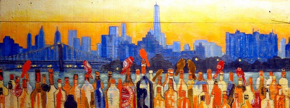 """Bottles Up Brooklyn"" 22x52"""