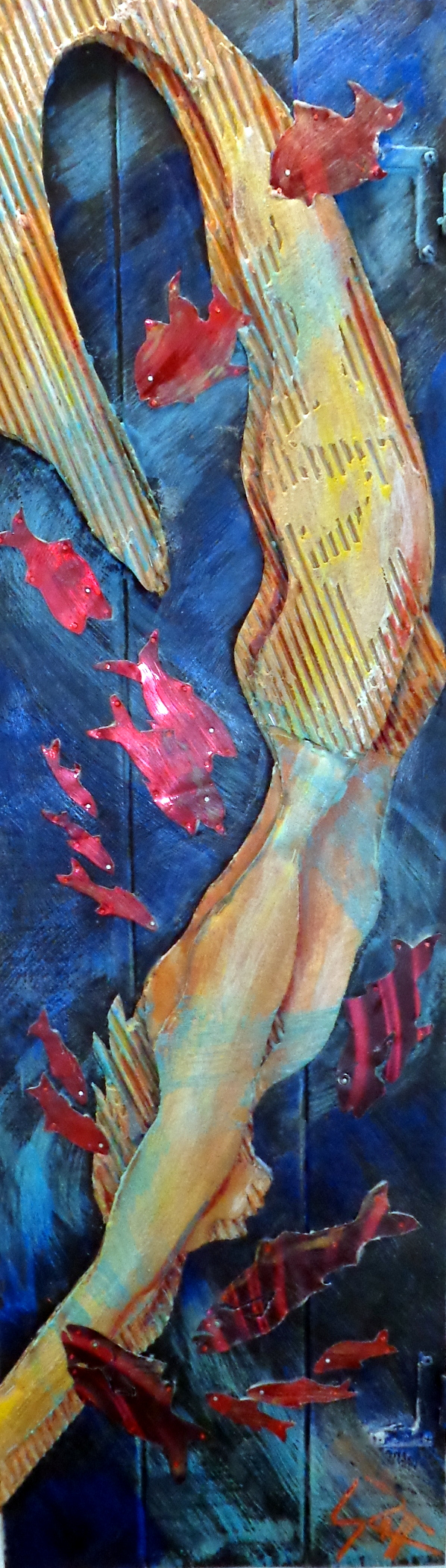 """""""Flesh Becomes Water"""" 14x46"""""""