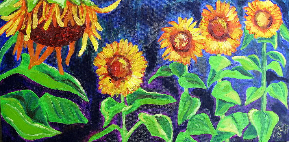 """Shelby's Sunflowers"" 10x20"""