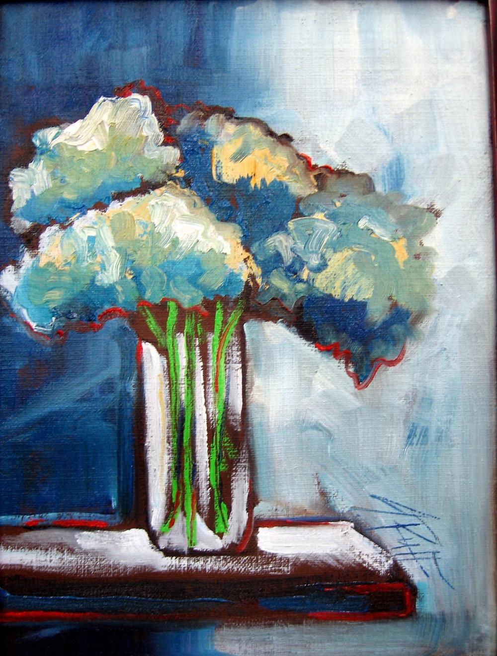 """Hydrangeas In A Vase"""