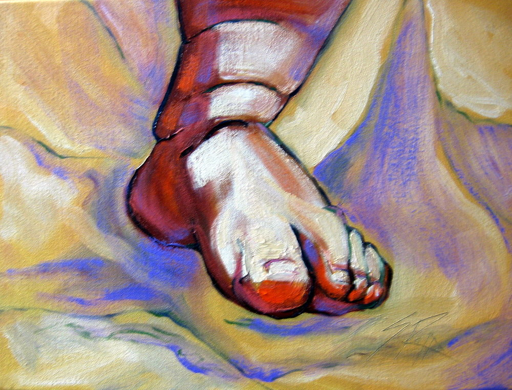 """Baby Foot"" 16x12"" SOLD"