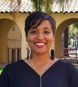 Adriena Brown - Adriena is a first-generation college graduate from Detroit, Michigan. She received her B.A. in Psychology from the University of Michigan and M.Ed. in Student Affairs from the University of California, Los Angeles. She is committed to uplifting and inspiring FLI students to pursue their purpose. Adriena has worked to promote college access and equity and ensures all students feel supported, encouraged, and connected to the campus community. Prior to coming to Stanford, Adriena worked with foster youth in the Peralta Colleges and as a counselor with the Educational Opportunity Program at California State University, East Bay.