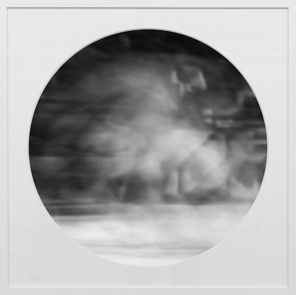 Elias Wessel   Ringbilder IV , 2014-15  B/W Photograph 76.3 x 76.3 cm (framed)