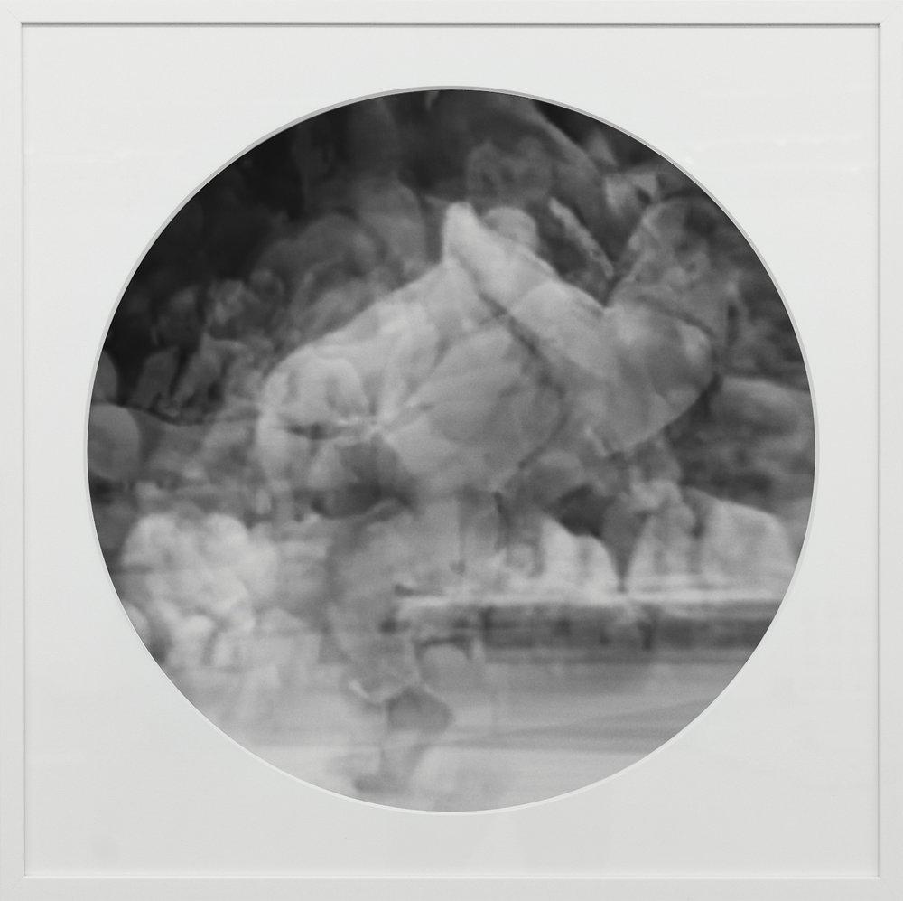 Elias Wessel   Ringbilder V , 2014-15  B/W Photograph 76.3 x 76.3 cm (framed)