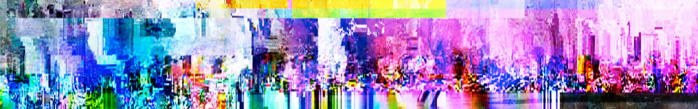 Elias Wessel   Cityscapes #7  (Triptych), 2014-15  Color Photograph  Overall 200 x 1275 cm (each 200 x 424,8 cm )