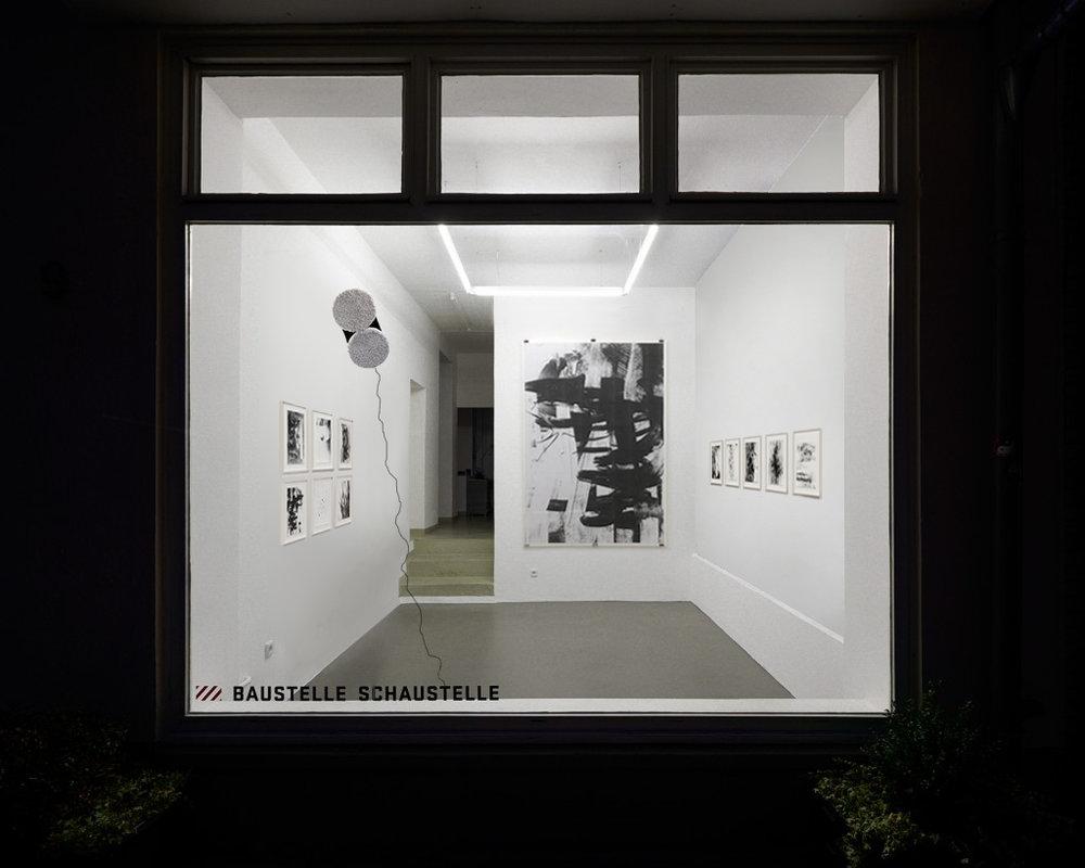 Installation View: Baustelle Schaustelle Raum für junge Kunst, Essen  Die Summe meiner Daten – B/W Series , 2018 © Elias Wessel