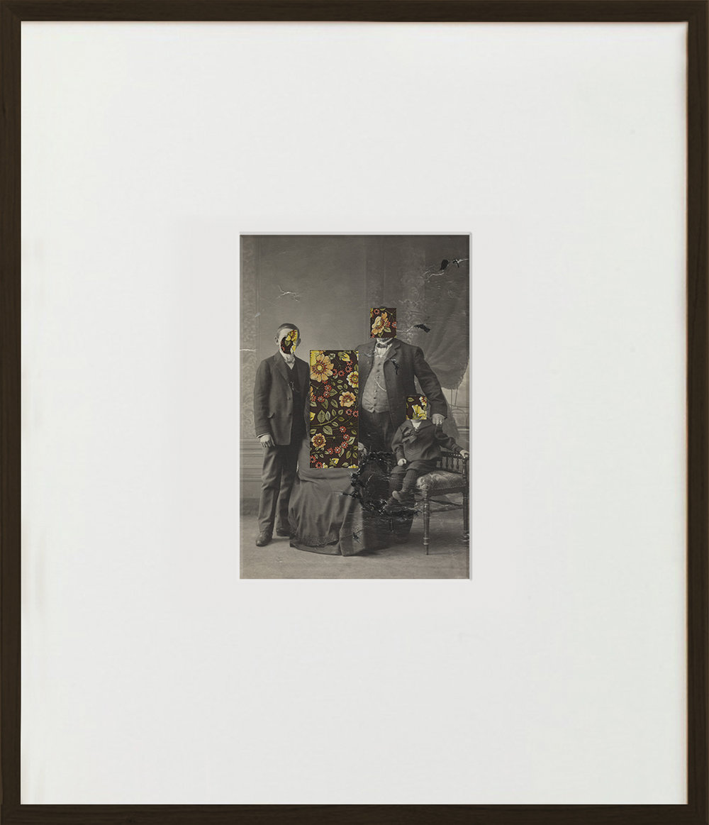 Elias Wessel  Unheimelig  (Vanitas), 2015  B/W and Color Photography, Collage 70,5 x 60,6 cm (framed)