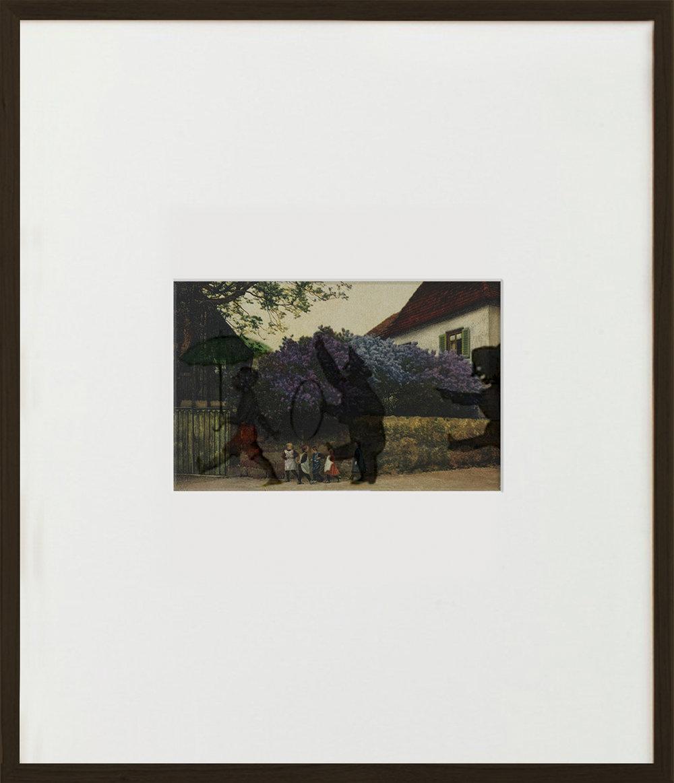 Elias Wessel  Wer hat Angst vorm schwarzen Mann  (Vanitas), 2015  Aquarell and Pigment on Color Photograph 70,5 x 60,6 cm (framed)