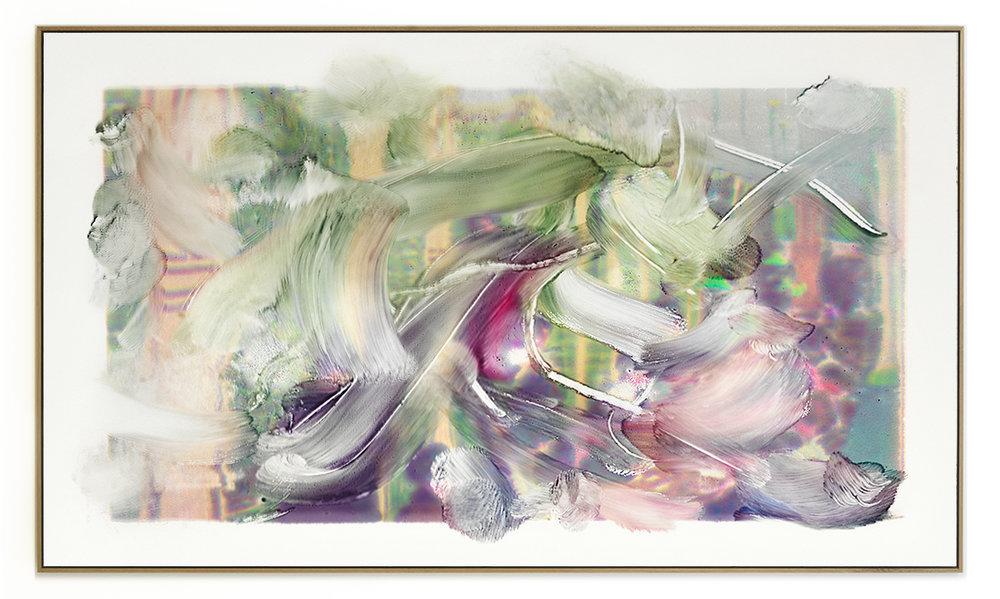 Elias Wessel Die  Freude am Rest – Zur Entmaterialisierung der Bilder, No. 1 , 2018 Photowork Original: 161 x 275,5 cm