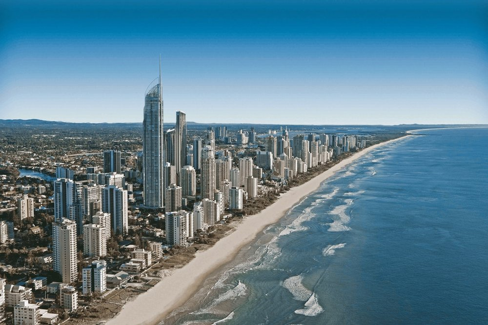 The famous Surfers Paradise skyline