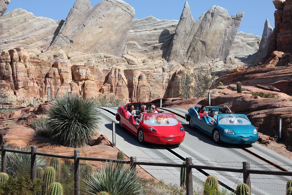 Radiator Springs Racers at the beautifully themed Radiator Springs, Disney California Adventure. Image courtesy of  James Hills , Pixabay