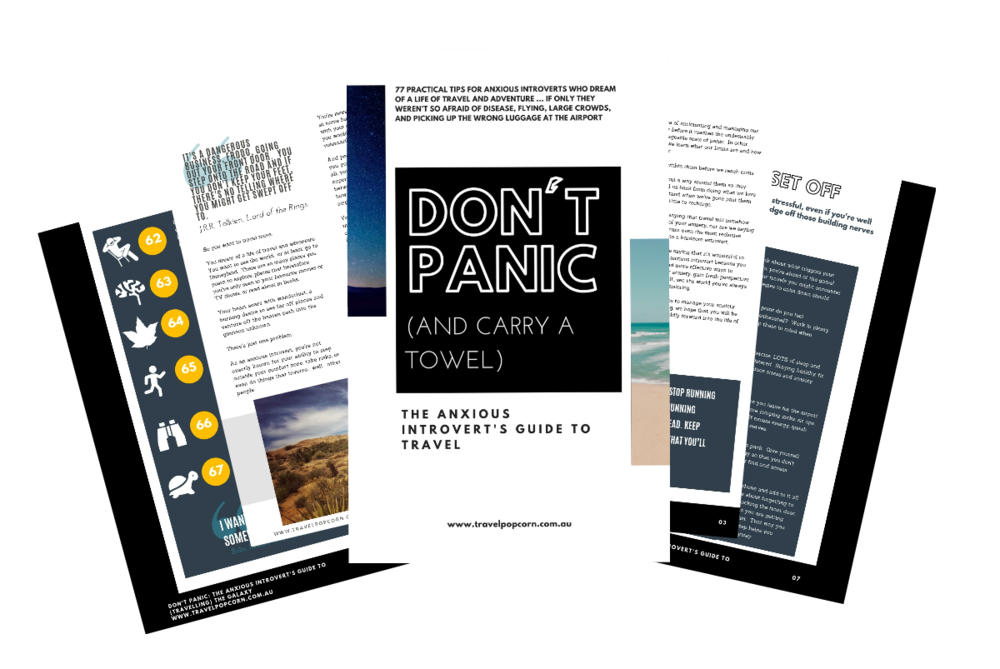 this is why we created DON'T PANIC - The Anxious Introvert's Guide to Travel