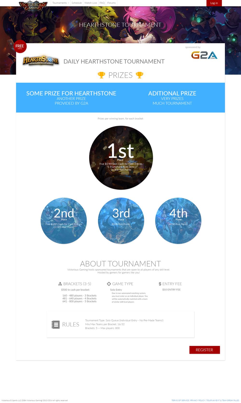 Tournament progression