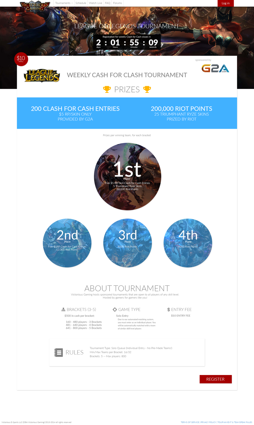 Tournament feedback