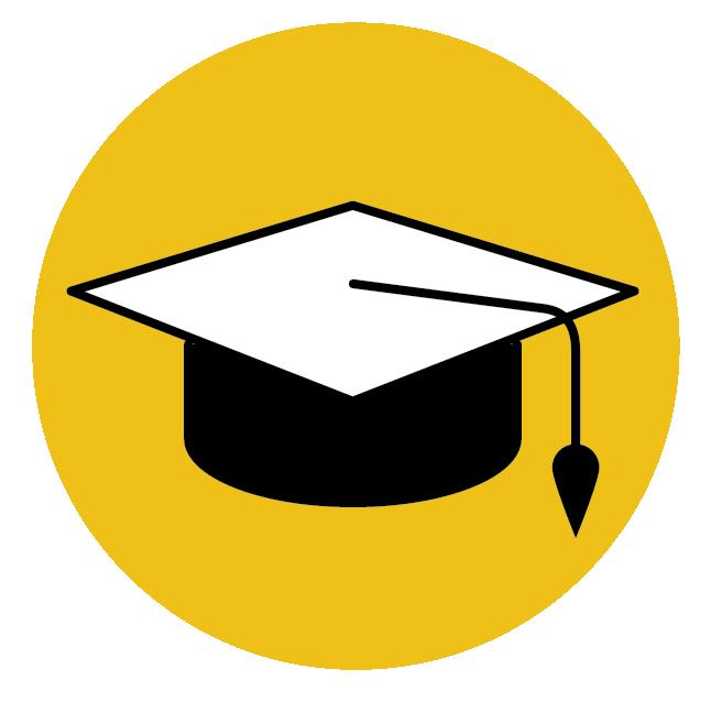 EDUCATION55% | Graduated College23% | Have a Graduate Degree -