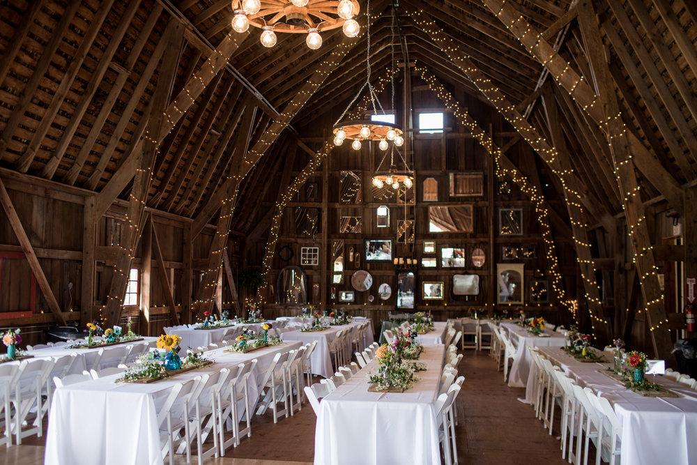 Reception Setup at Back Acres Farm