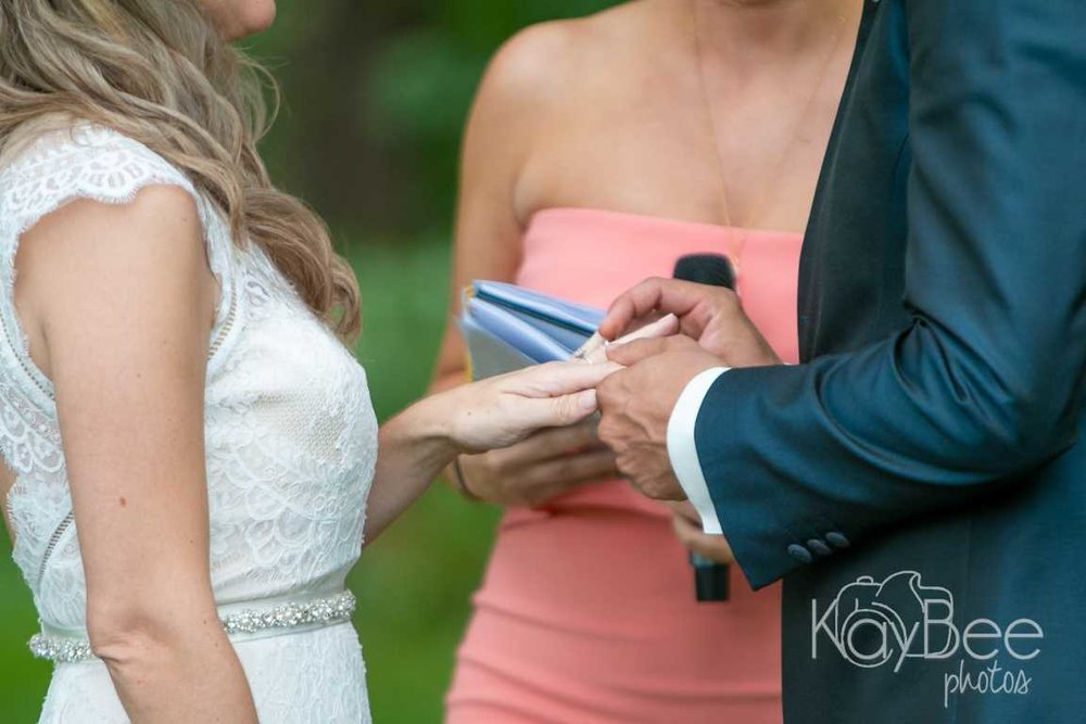 Outdoor ceremony - ring exchange