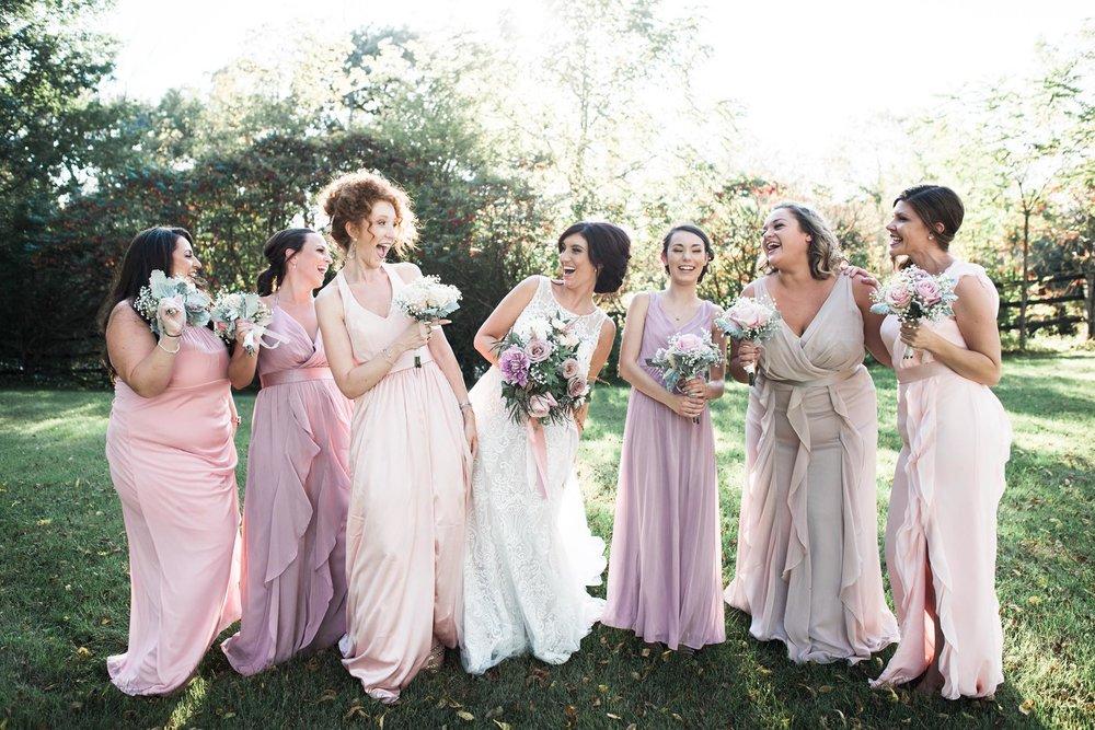 Bridal Party at Outdoor Wedding