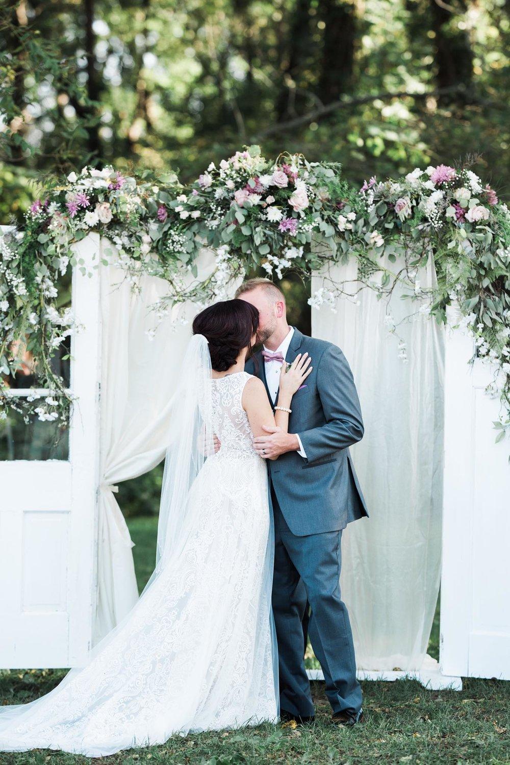 Outdoor Ceremony Kiss