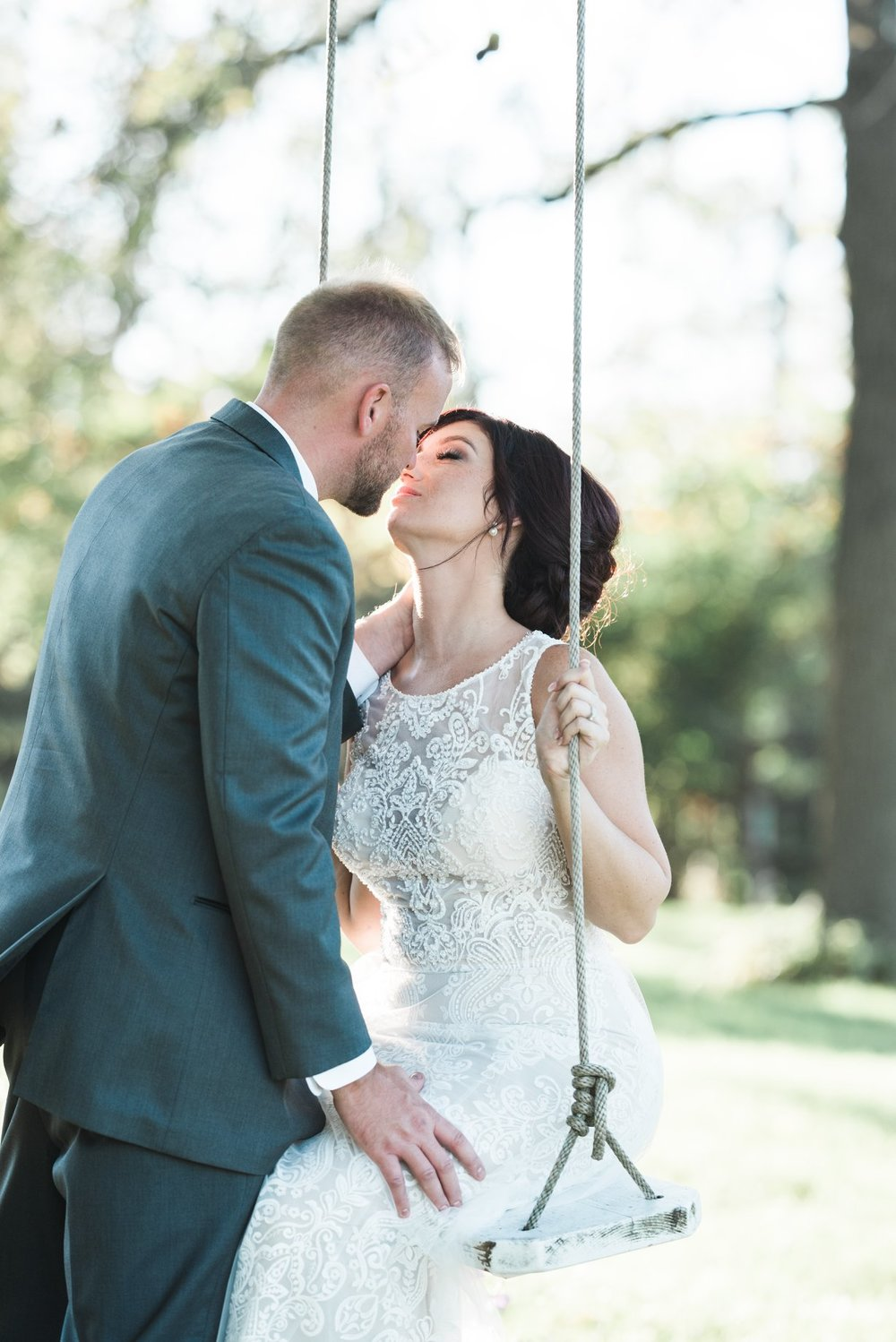 Outdoor Wedding First Look Moment