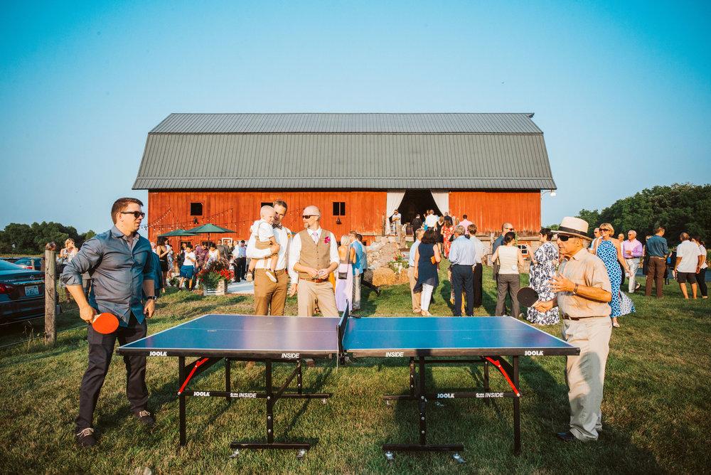 Lawn Games at Barn Wedding