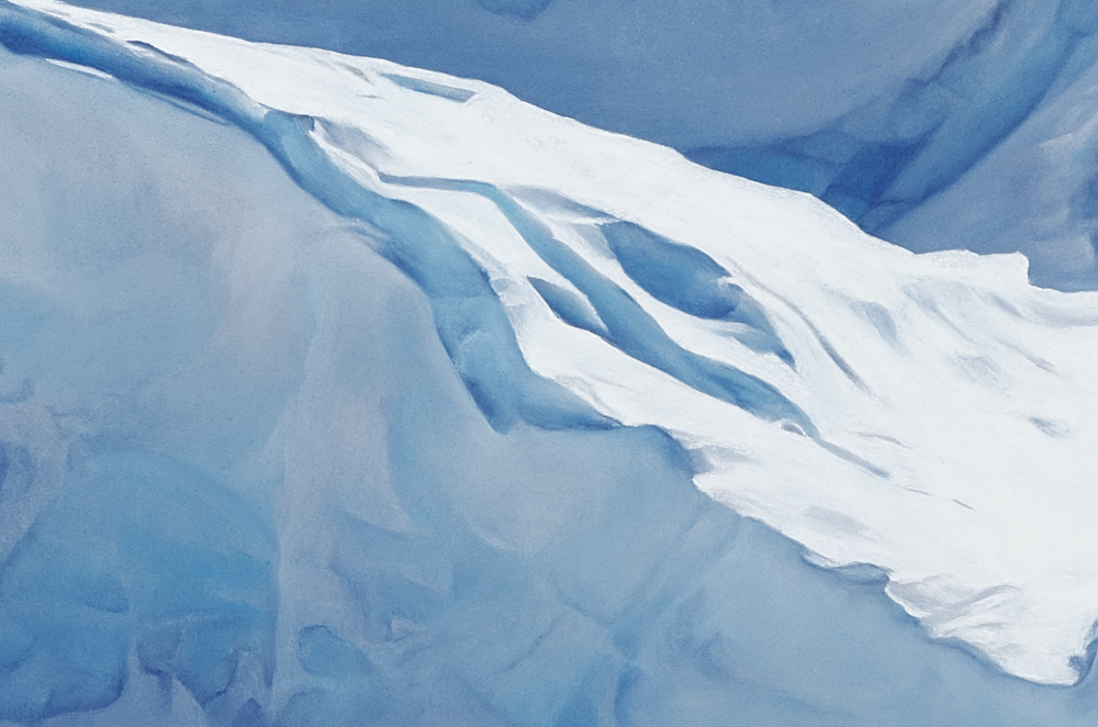 Detail of Jakobshavn Glacier, Greenland,