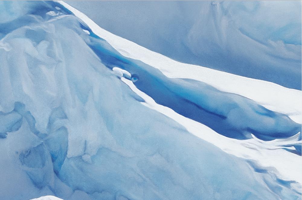 Detail of Jakobshavn Glacier, Greenland