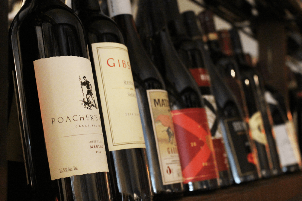 Italian and Australian wines