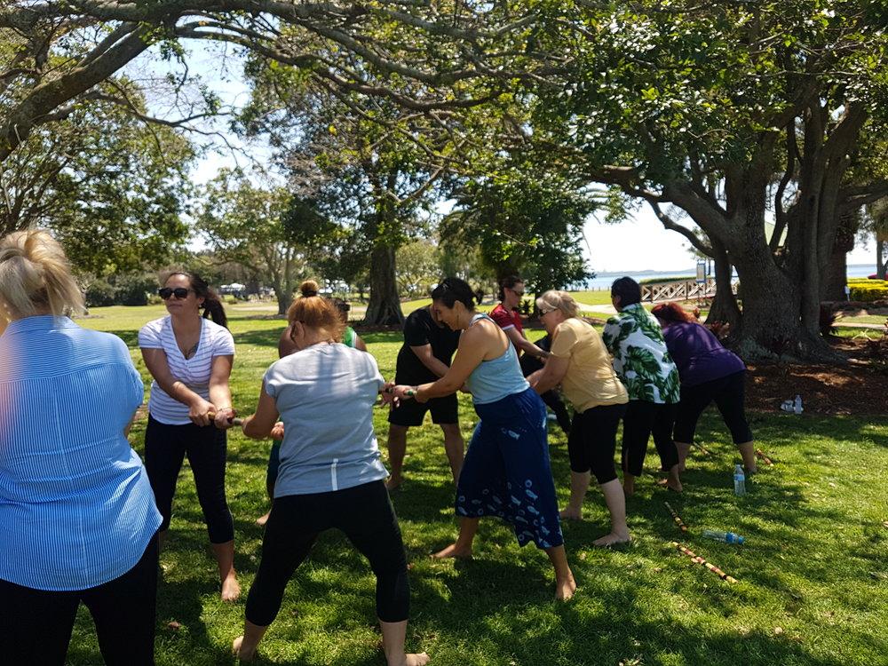 Rakau exercises for strength and co-ordination