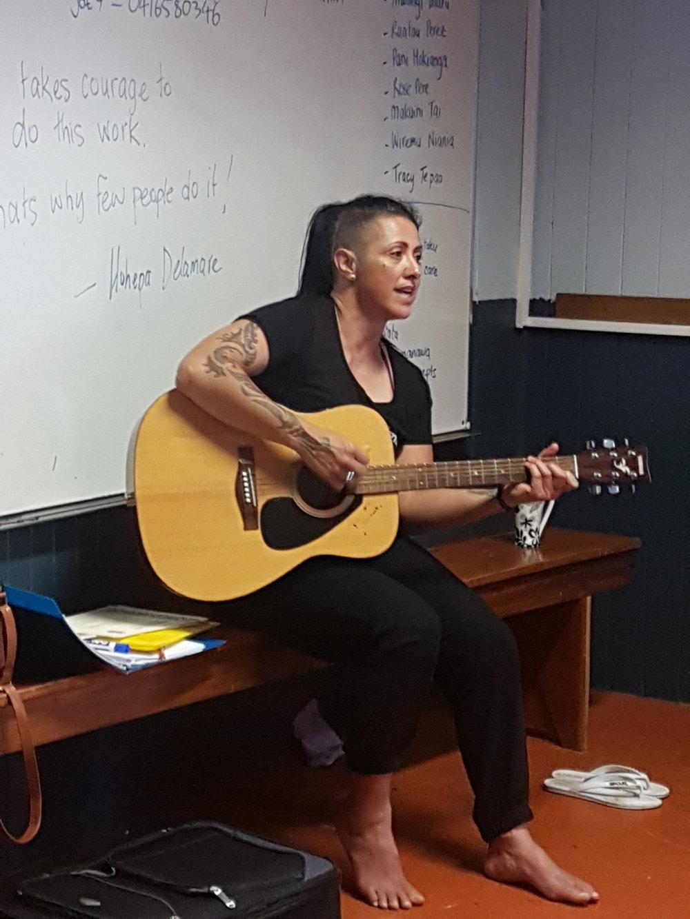 Copy of Waiata at the Manawa Ora Workshops