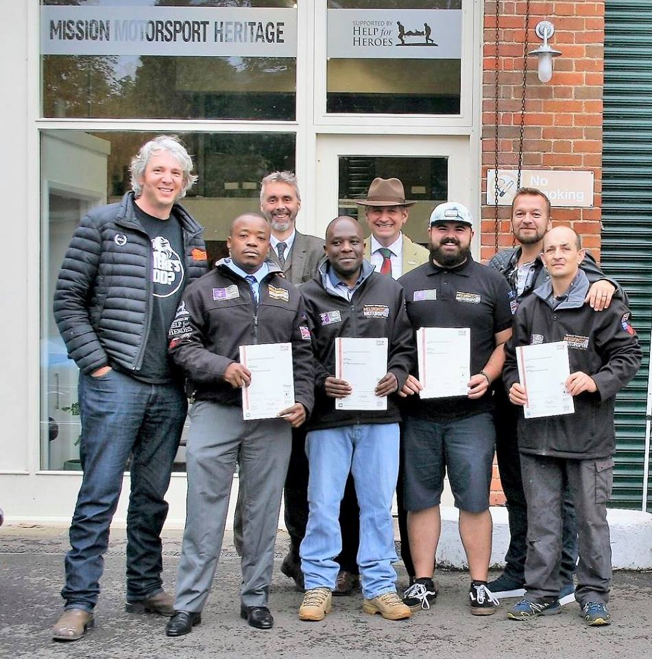 NVQ students receiving their certificates at Bicester Heritage