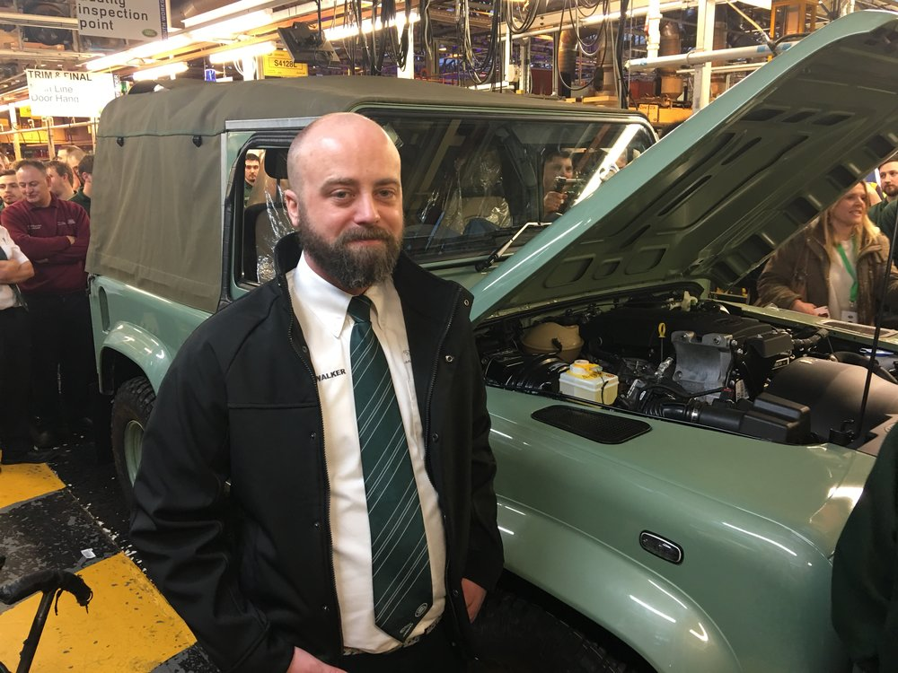 MM beneficiary, Wayne Walker, now employed at Jaguar Land Rover
