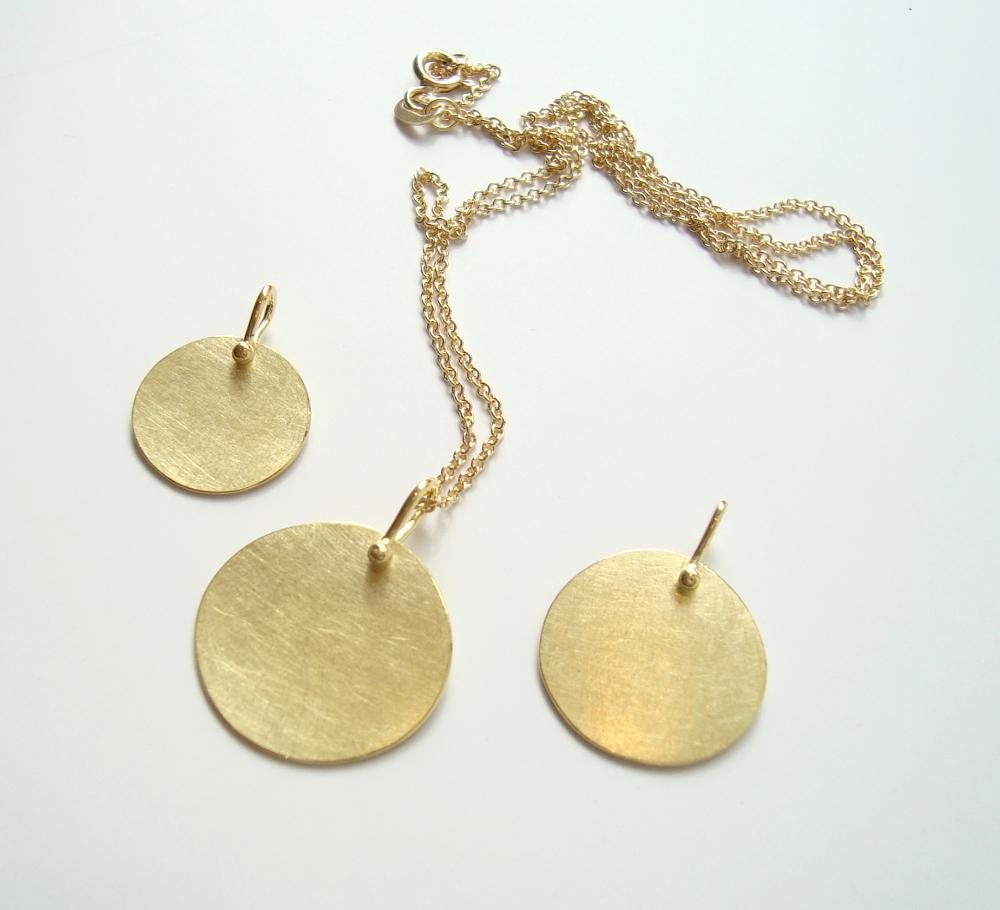 Anhänger Goldscheiben