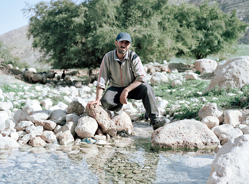 Rashed at al Auja river in the rainy season