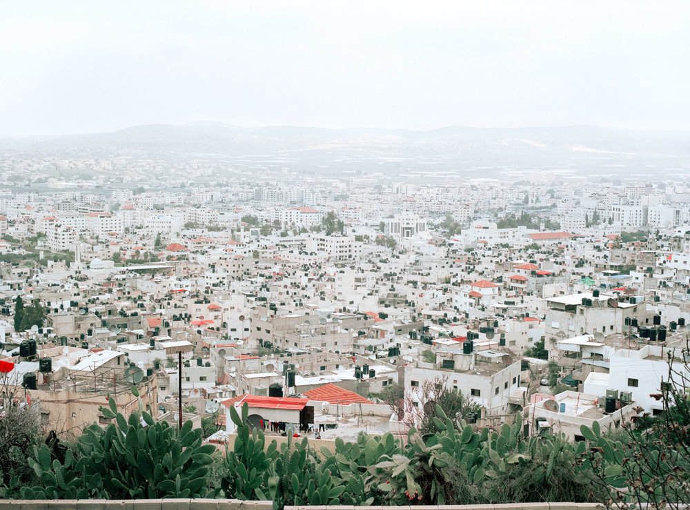 View of Jenin refugee camp, Jenin city in the background