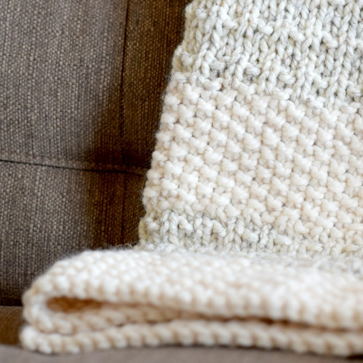 Easy heirloom knit blanket by Mama In A Stitch