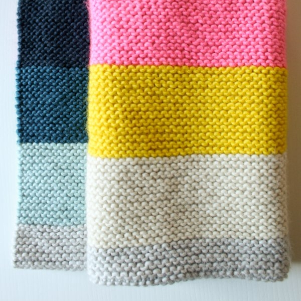 Super easy crib blanket by Purl Soho