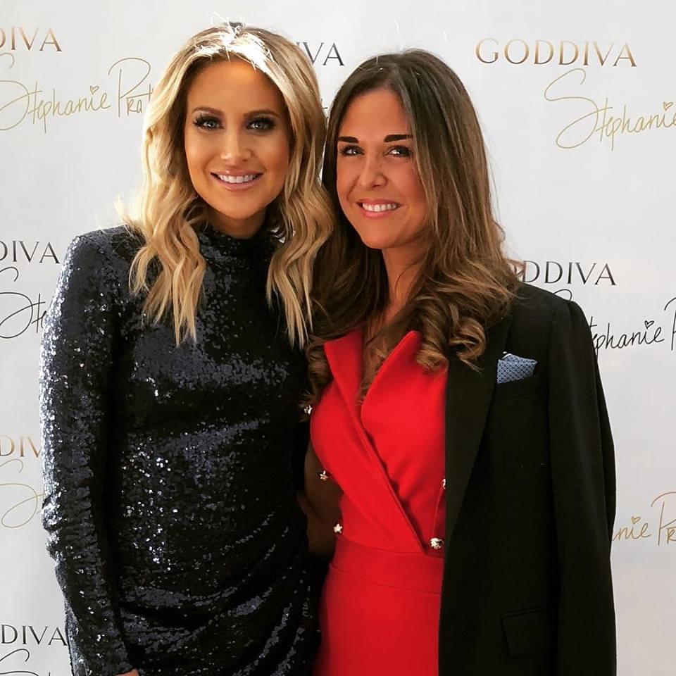 lara asprey and steph pratt at the launch of her new clothing range of goddiva