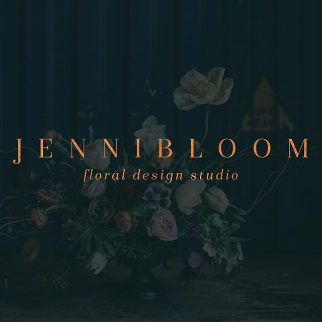 I really should have shared one of my favourite re-brands from last year, sooner than what I am now.  @jennibloomflowers you were an amazing client and I had a wonderful time working on your new brand and website.  Not to mention getting to look at your wonderful floral creations during our project time.  A sketched floral design was the perfect direction to take your brand, pairing it with a beautiful serif font, then finishing it off with a copper metallic finish just worked beautifully with the moodiness of the floral images. And then using the @showit.co Freya template to house your new site was perfection! . . . . #logo #logodesign #theautumnrabbit #graphicdesign #floraldesigner  #design #inspiration #designinspiration #botanicallogo #monogram #florals #showit #websitedesign