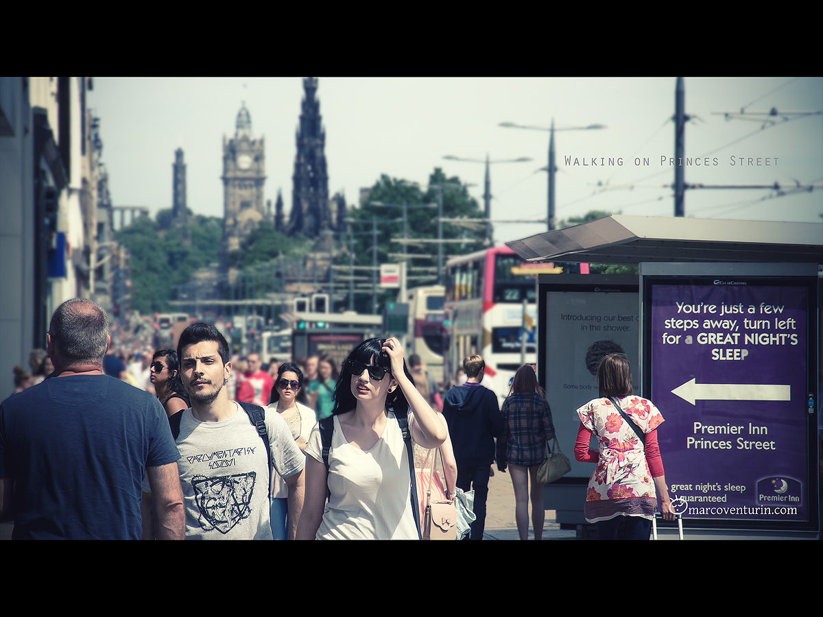 Walking on princes Street