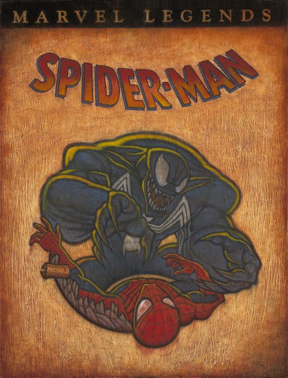 "Spider-Man - oil on panel - 11x17"" - Secret Headquarters - Comic Book Covers"