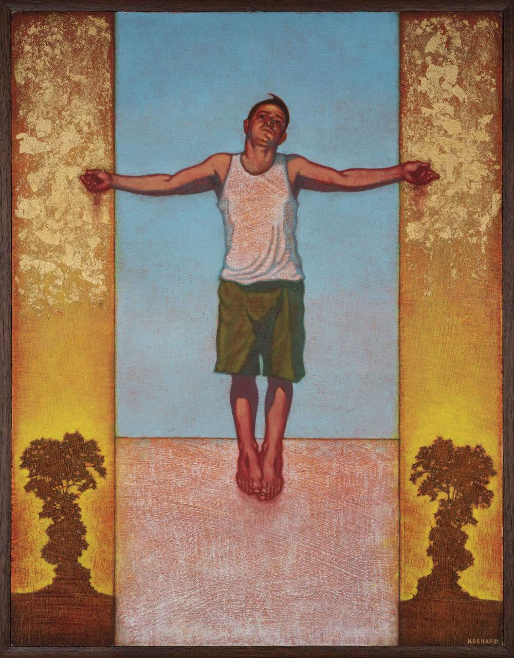 "Stigmata - oil on panel - 11x17"" - Gallery 825 - 50/50 Show"