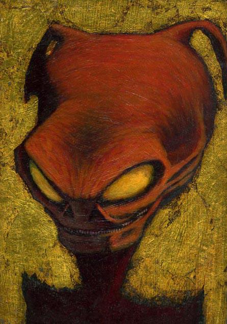 """Martian Portrait - oil on panel - 6x9"""""""