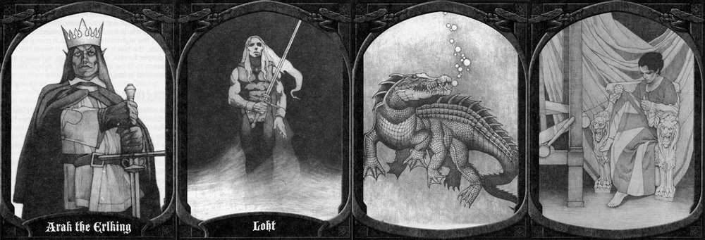 Arak the Erlking, Loht, Prince of Shadows, Avanc, Changeling - Graphite-Ravenloft, The Shadowrift - TSR